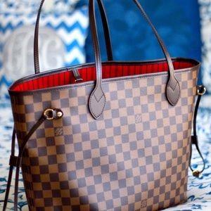 éNew Louis Vuitton Neverfull Handbag Purse MMû